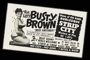 Busty Brown Strip City advertisement