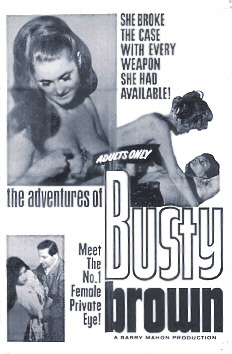 The Adventures of Busty Brown Advertisement poster