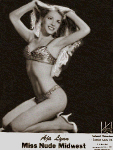 "Vintage Burlesque dancer ""Adele LaTour"""