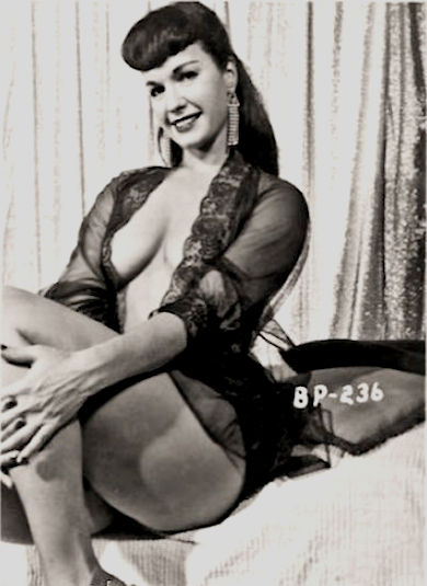 Betty Page Burlesque model and dancer photo
