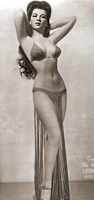 Burlesque dancer Sherry Britton