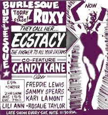 Ecstacy - Roxy Advertisement