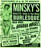The Banana Wiggle -Minsky's Rialto Advertisement