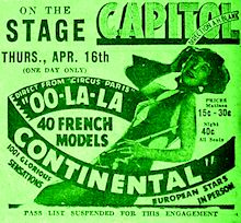 Oo-La-La- Contnetal Club Advertisement