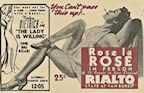 Rose La Rose - Rialto Advertisement