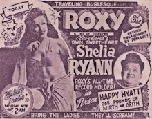 Sheila Ryan - Roxy Advertisement