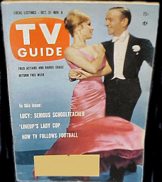 Barry Chase and Fred Astaire dancing on TV Guide Cover