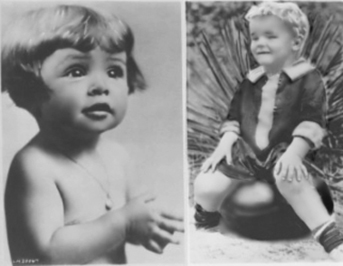 A young Marge and Gower Champion, just babies.