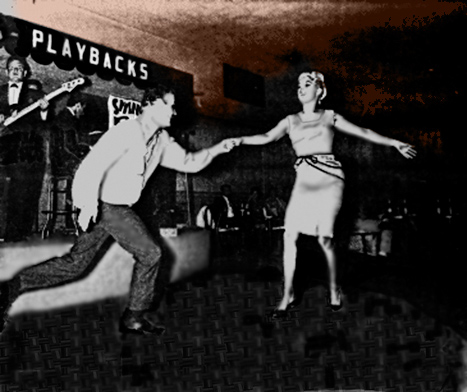 West Coast Swing and Lindy dancers:  Rick Hanna and Frieda Angela