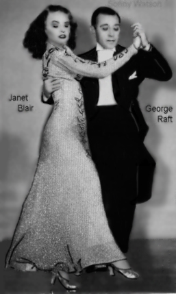 Janet Blair and George Raft