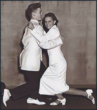 John Englert and Ruth Scheim - Collegiate shag champions of the 1938 harvest moon ball