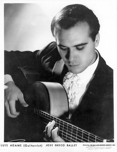 Luis Admae: A Spanish Guitarrist who was part of the  Greco Troupe