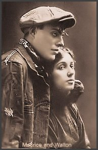 Maurice Mouvet and Florence Walton from his own book. Yes they are dressed in their Apache costume