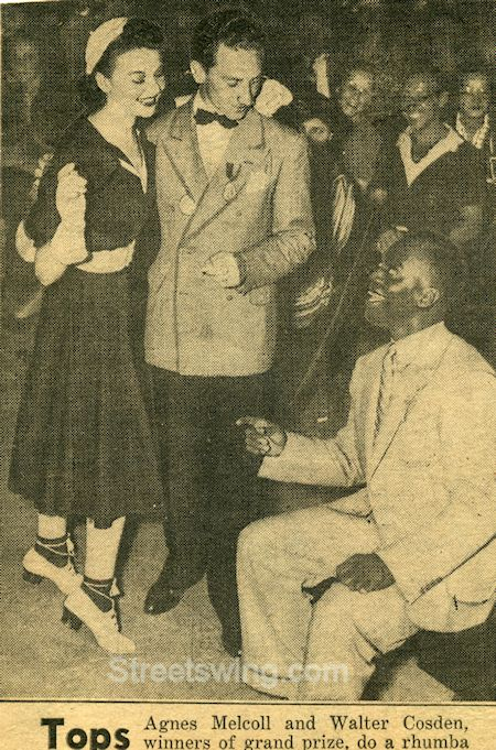 Walter Cosden and Agnes Melcoll with Bojangles after the 1937 Harvest Moon Ball win