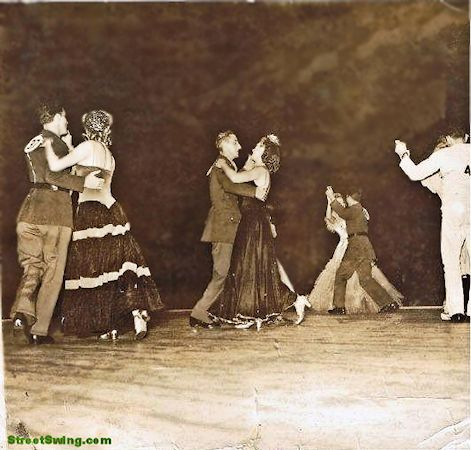 Dorothy Rothman and Tony Verzi 1942 Harvest Moon Ball Amateur Dance Championships finalists Ballroom dancers photo