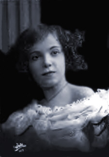 A very young photo of adele Astaire Portrait