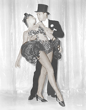 Vera Zorina and George Raft Dancing Pose