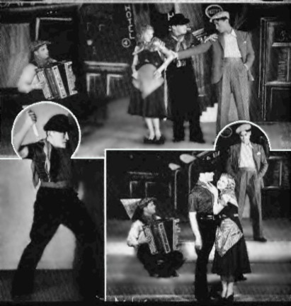Apache dance scenes from the 1930s Folies Bergere, Paris France.