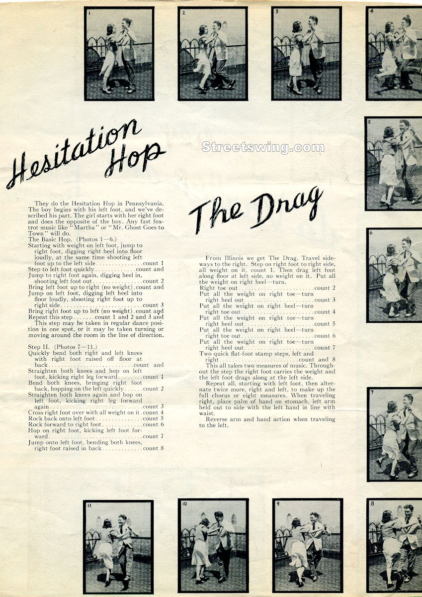 Hesitaion Hop and The Drag done by Ruth Scheim and John Englert with description