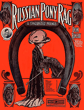 Russian Pony Rag Sheet Music Cover. C.1910