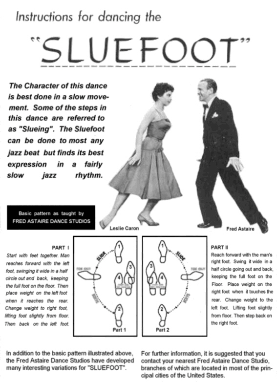 "The ""Sluefoot"" Instruction Sheet from Fred Astaire Studios!"