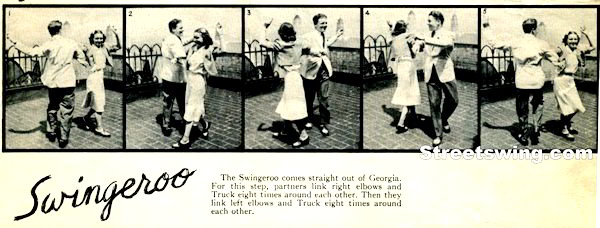 The Swingeroo Truckin' manuever by Ruth Scheim and John Englert, circa 1938