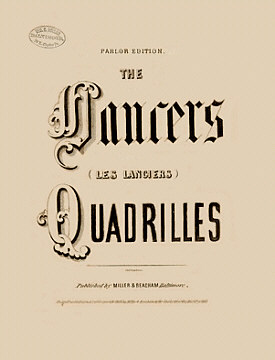 Les Lanciers Sheet Music Cover - 1858