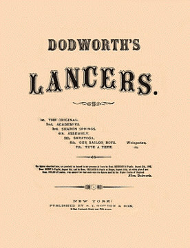 Dodsworth Lancers - Sheet Music Cover - 1857