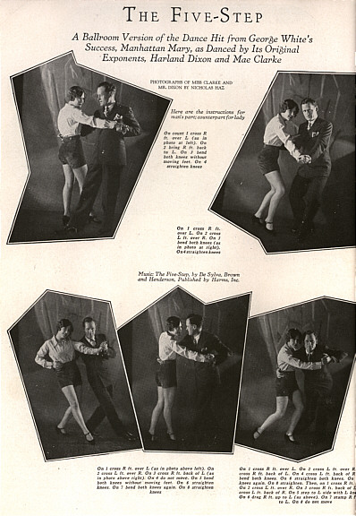 Harland Dixon and Mae Clark doing the steps to the Five step dance along with descriptions