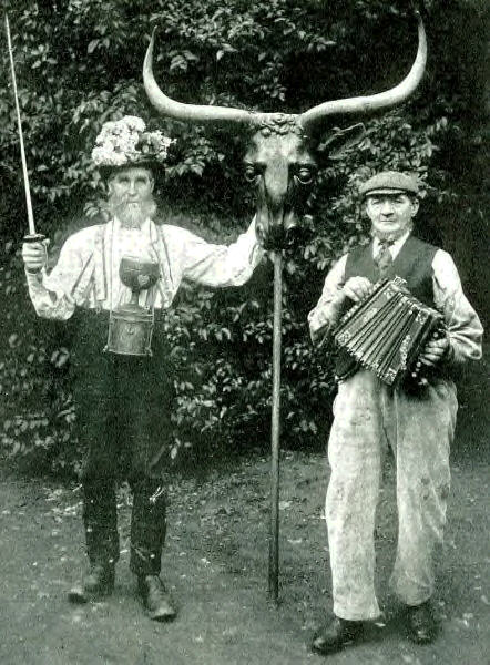 James and William Hemmings of the Abingdon morris dancers. circa 1910