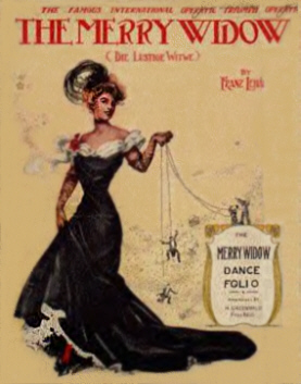Merry Widow Waltz Sheet Musi Cover, circa 1908