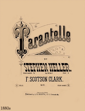 Tarantelle Sheet Music Cover