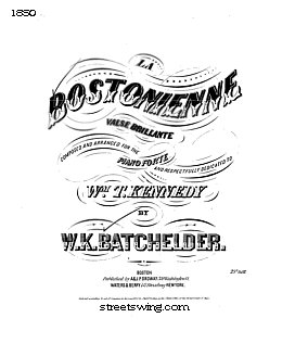 La Bostoninne - Valse Brilliante or Boston Waltz
