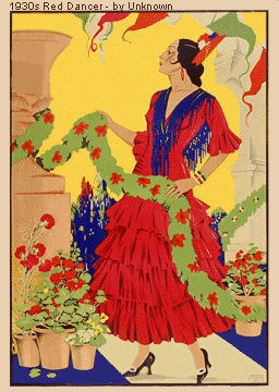 1930s Red Dancer - Flamenco Poster