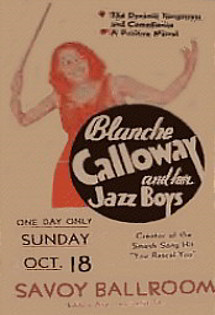 Blanche Calloway and Her Jazz Boys Poster, Savoy Ballroom, NY.
