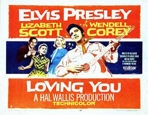 Loving You Lobby Card featuring Elvis Presley, Lizbeth Scott, Wendell Corey