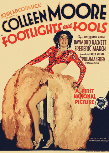 Footlights and Fools Movie Poster with Colleen Moore