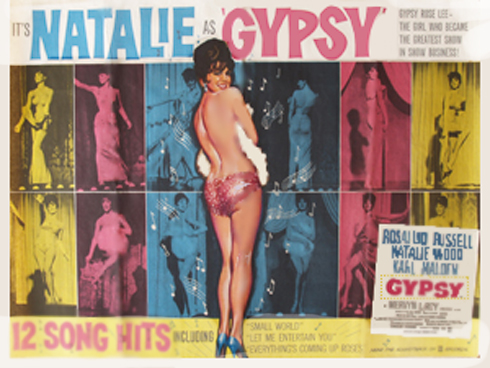 Gypsy Movie Poster with Natalie Wood