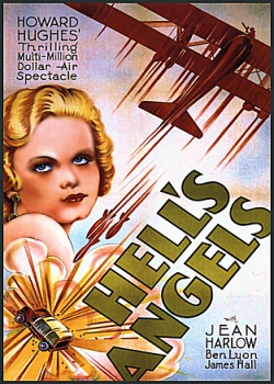 Hells Angels Movie Poster with Jean Harlow by Howard Hughes