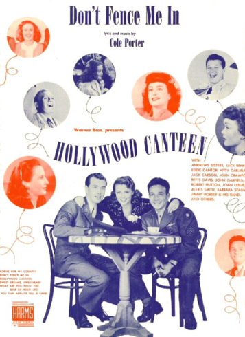 Hollywood Canteen Sheet Music Cover: Don't Fence Me In