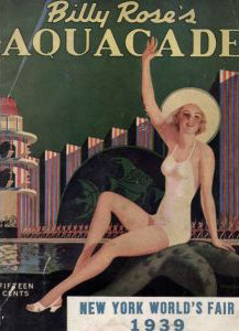 Billy Rose's Aquacade Poster from the 1939 Worlds Fair