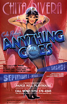 Anything Goes Poster featuring Chita Rivera