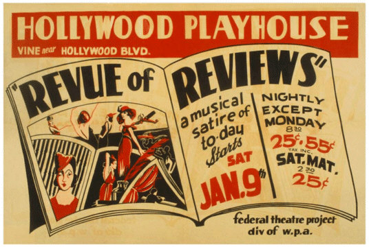 Review of Reviews at the Hollywood Playhouse Poster