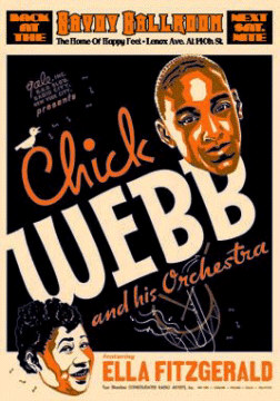 Chick Webb and Ella Fitzgerald at the Savoy Ballroom Poster