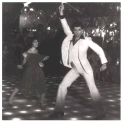 John Travolta - Saturday Night Fever, Fine-Art Print, 15.75x15.75