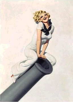 Cannon Pin Up Art Print Poster by Enoch Bolles