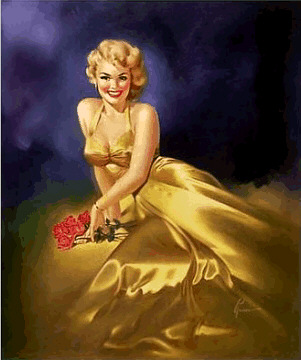 Roses Pin Ups Poster by Edward Runci