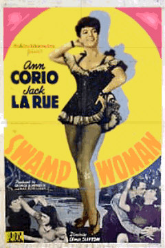 Anne Corio in Swamp Woman cult movie poster