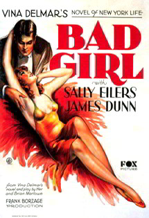 Bad Girl movie poster with Sally Eilers