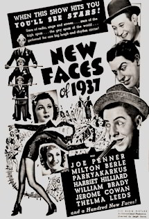 Featured: New Faces of 1937 Vintage Black and White Dance Poster (1937): Introduced the 'Peckin' Dance - Full length scene!